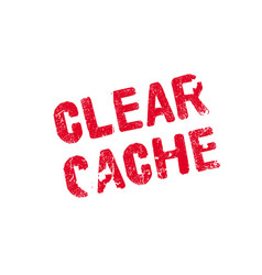 Clear cache rubber stamp vector