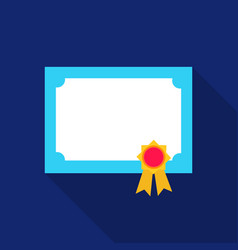 Diploma icon flat single education icon from the vector