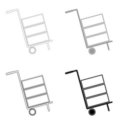 cart delivery or shipment icon the black and grey vector image