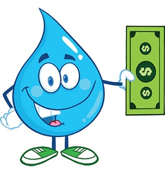 Water droplet cartoon character vector