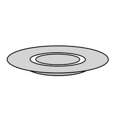 Dish tableware isolated icon vector