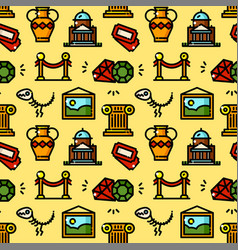 Museum seamless pattern vector