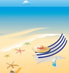 wonderful shining beach vector image
