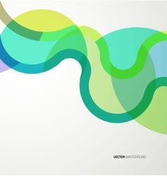 Background with abstract waves vector image