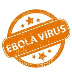 Ebola virus grunge icon vector