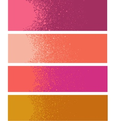 Spray paint gradient detail in pink orange vector