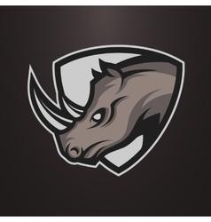 Rhino symbol emblem or logo vector image