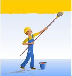 Cartoon house painter vector