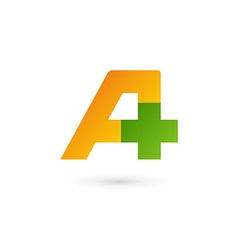 Letter a cross plus logo icon design template vector