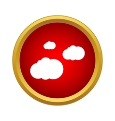 Clouds icon simple style vector