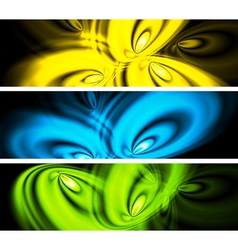 Bright abstract banners vector image