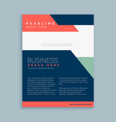 abstract business brochure template design vector image vector image