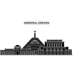Armenia erevan architecture city skyline vector