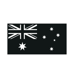 Australia Flag on white background vector image