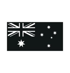Australia flag on white background vector