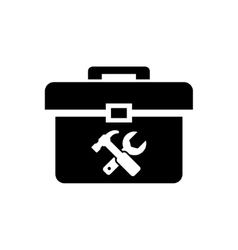 Black toolbox icon vector