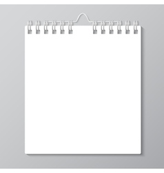 Blank wall calendar with spring vector image