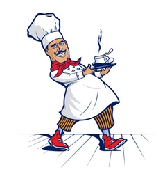 chef smile vector image