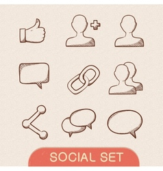 Communication symbols set vector image vector image