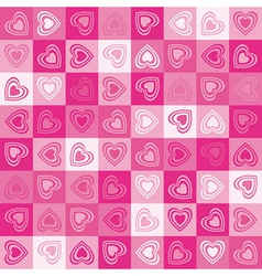 Cute heart seamless background vector image vector image