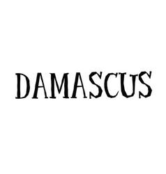 Damascus typographic stamp vector