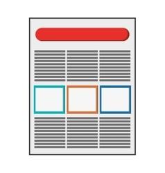 diagram document icon vector image vector image