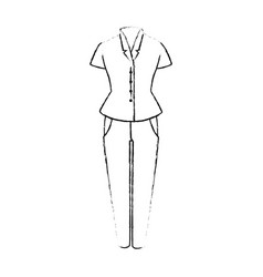 elegant dress for woman vector image