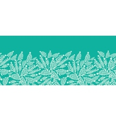 Emerald green plants horizontal seamless pattern vector image vector image
