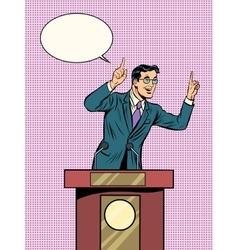 Emotional politician electoral debates vector image vector image