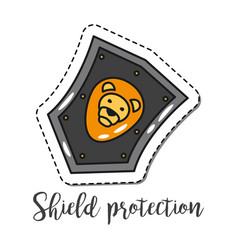 fashion patch element shield vector image vector image