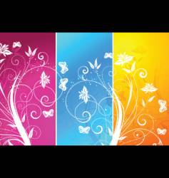 floral panels vector image