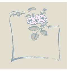frame rose vector image