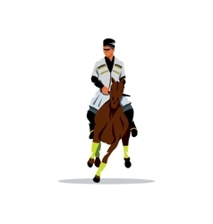 Georgian horseman cartoon vector