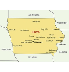 Iowa - map vector image