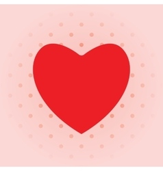 Love background with red heart vector image
