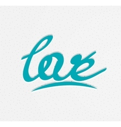 Love lettering word vector image vector image