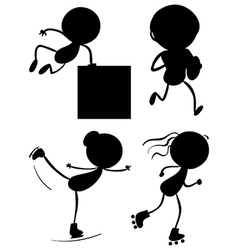 Silhouettes of the different sports vector image vector image