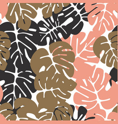 Summer seamless tropical pattern vector