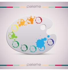 Wooden art palette Color vector image vector image