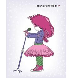 Young punk-rock vector