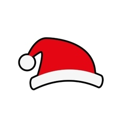 Santa hat merry christmas cartoon icon vector