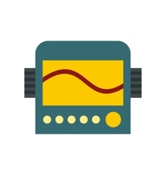 Display with cardiogram ecg machine icon vector
