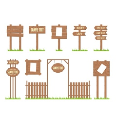 Wooden sign posts vector