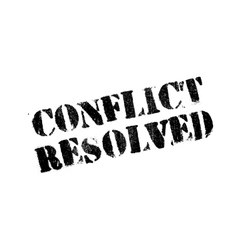 Conflict resolved rubber stamp vector