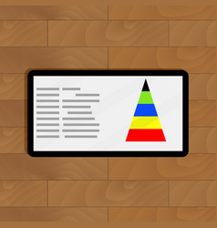 digital graphic color pyramid vector image