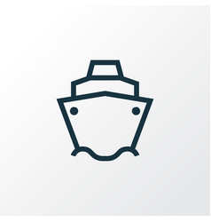 Tanker outline symbol premium quality isolated vector