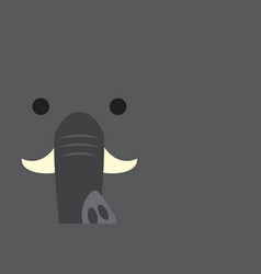 cute elephant head vector image