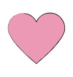 Pink heart healthy love feeling symbol icon vector