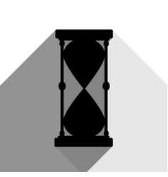 Hourglass sign black icon vector