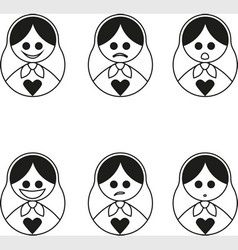 Matryoshka smilies vector